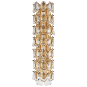 """Liscia 22"""" Sconce in Gild with Crystal"""