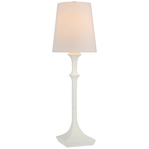 Briar Buffet Lamp in Plaster White with Linen Shade