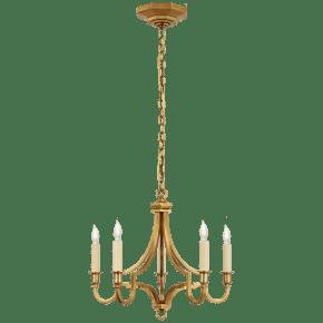 Mykonos Small Chandelier in Antique-Burnished Brass