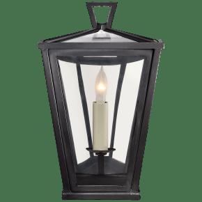 Darlana Mini 3/4 Wall Lantern in Bronze with Clear Glass