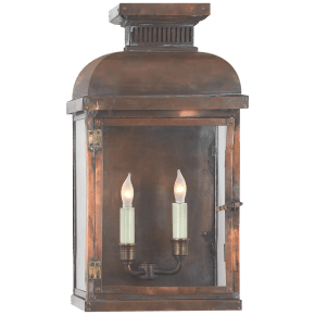 Suffork Wide Short 3/4 Lantern in Natural Copper