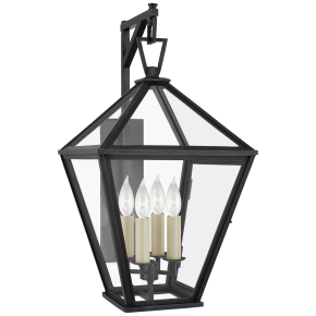 Classic Darlana Medium Bracketed Wall Lantern in Bronze with Clear Glass