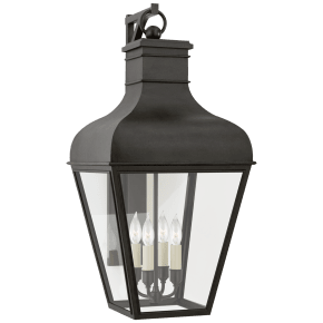 Fremont Large Bracketed Wall Lantern in French Rust with Clear Glass