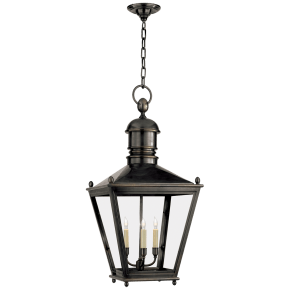 Sussex Large Hanging Lantern in Bronze