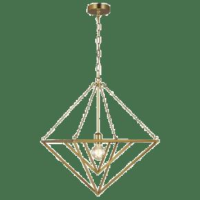 Carat Medium Pendant Burnished Brass