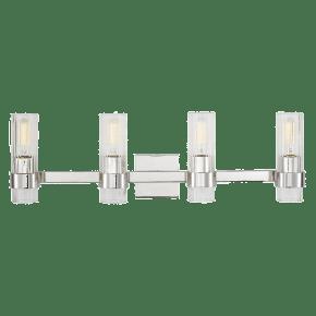 Geneva 4 - Light Vanity Polished Nickel