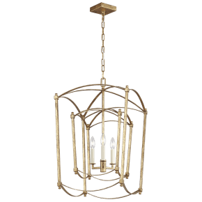 Thayer Double Lantern Antique Gild