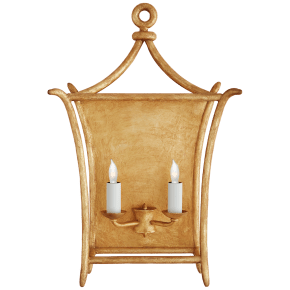 Aria Large Wall Lantern in Antique Gold Leaf