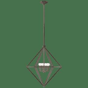 Afton Medium Elongated Lantern in Aged Iron