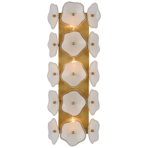 """Leighton 20"""" Sconce in Soft Brass with Cream Tinted Glass"""