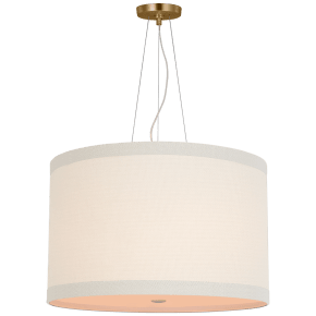 Walker Medium Hanging Shade in Gild with Linen Shade
