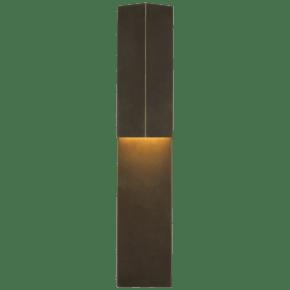 """Rega 24"""" Folded Sconce in Bronze"""