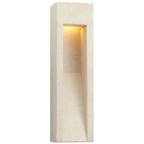 Tribute Tall Sconce in Travertine