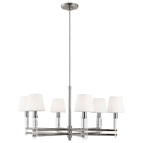 Jake Medium Chandelier Polished Nickel