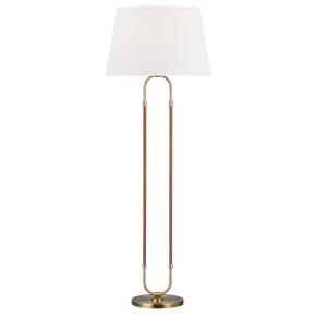 Katie Floor Lamp Time Worn Brass Bulbs Inc