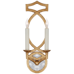 Brittany Double Sconce in Venetian Gold