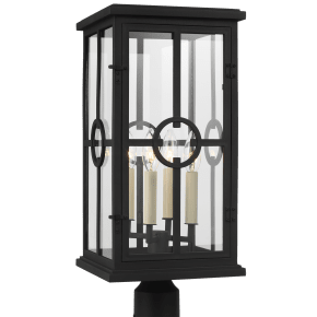 Belleville Post Lantern Textured Black