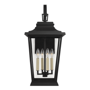 Warren Large Lantern Textured Black