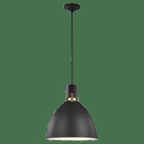 Brynne Small LED Pendant Matte Black Bulbs Inc