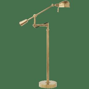 RL '67 Boom Arm Floor Lamp in Natural Brass