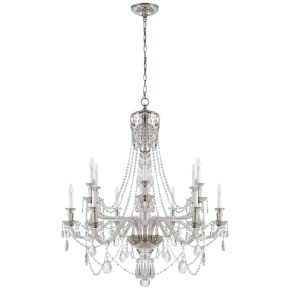 Daniela Two-Tier Chandelier in Crystal
