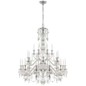 Daniela Twenty Four-Light Chandelier in Crystal