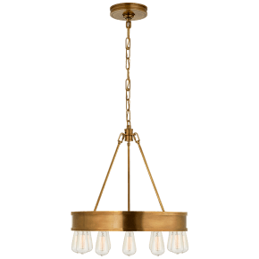 "Roark 20"" Modular Ring Chandelier in Natural Brass"