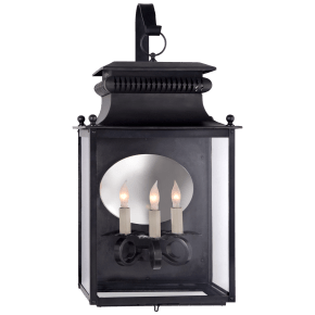 Honore Medium Bracketed Wall Lantern in Blackened Copper