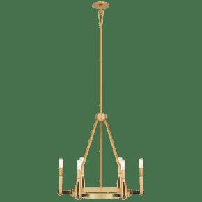 Alpha Medium Chandelier in Hand-Rubbed Antique Brass and Bronze