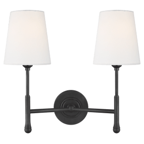 Capri Double Sconce Aged Iron