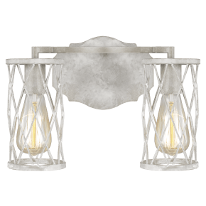 Cosette 2 - Light Vanity French Washed Oak / Distressed White Wood