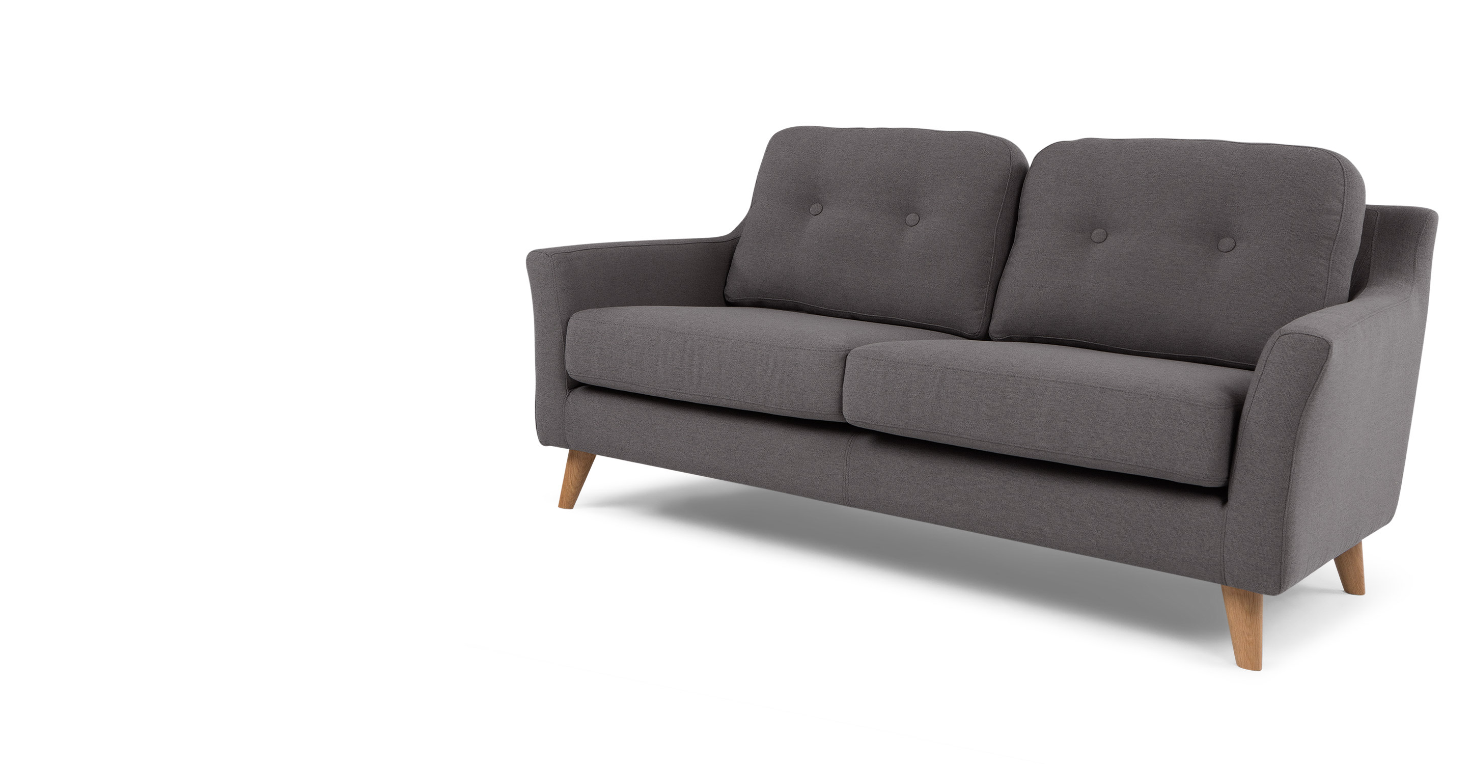 rufus 2 seater sofa rhino grey
