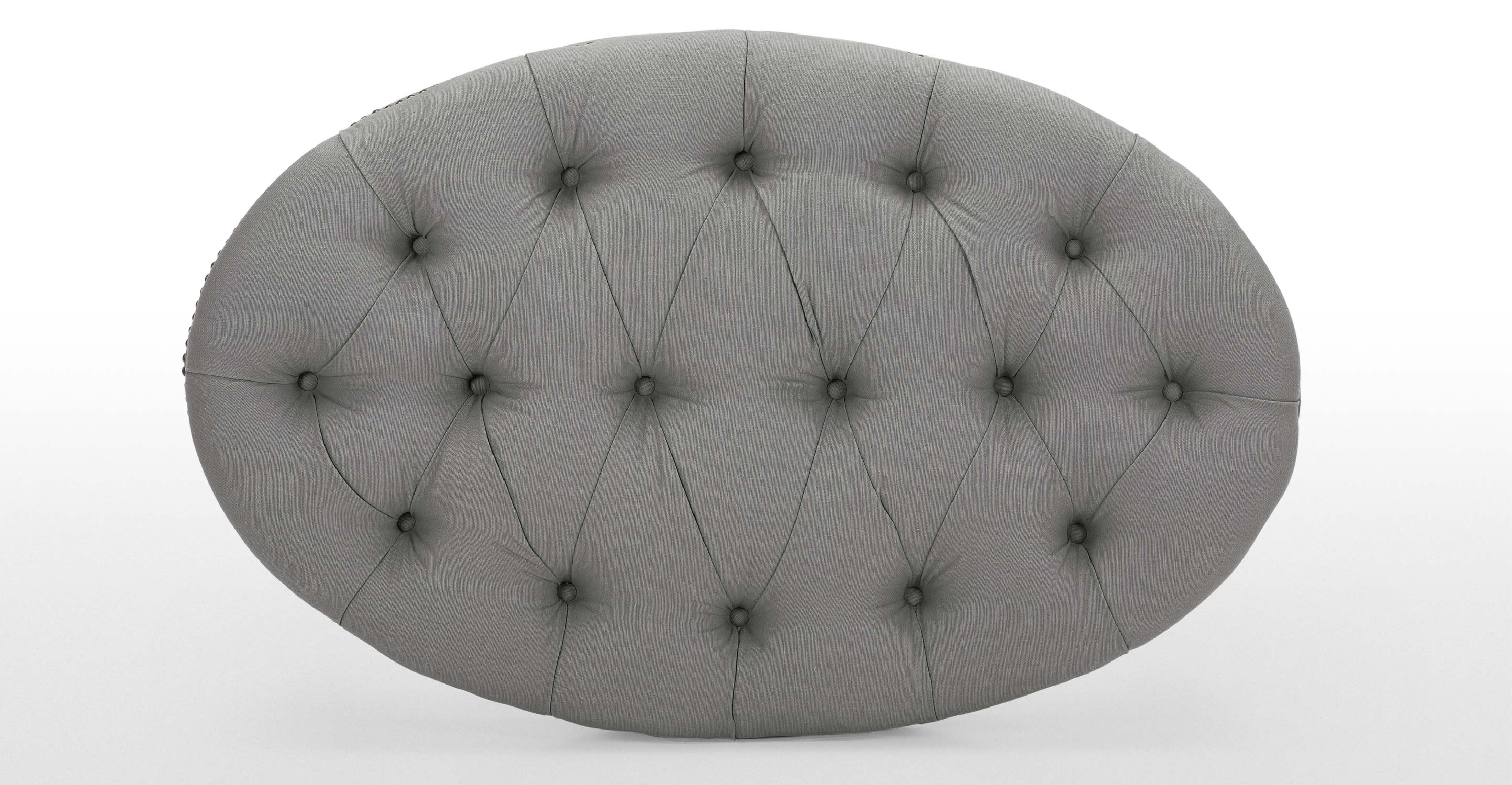 Bouji Oval Ottoman In Graphite Grey And Slate Made Com