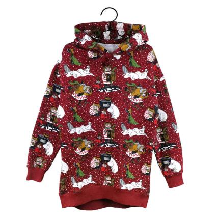 Moomin Ella Hoodie Winter Star red
