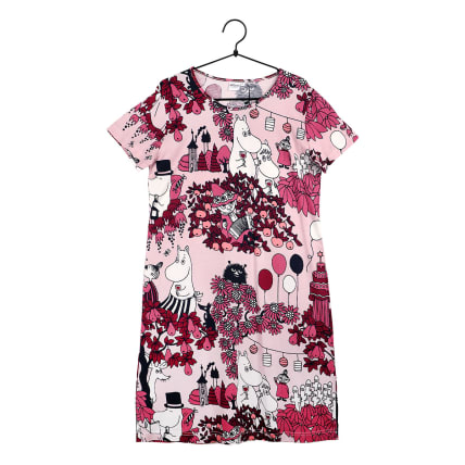Moomin Party Moment Nightgown Short-sleeve pink