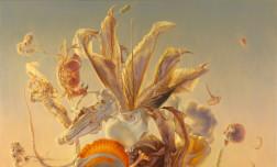Louise Feneley, Bouquet – natura morte, oil on Belgian