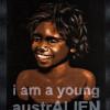 Tony Albert, 'I am a young Australien' from Blak velvet series, 2007. Sytnhetic polymer paint on found vintage velvet paining.