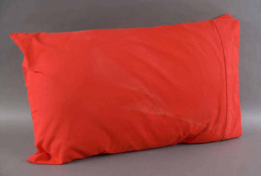 Pillow In A Red Pillowcase From The Neville Bonner Collection