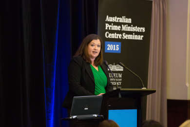 Karen Middleton speaking at the APMC Seminar 2015