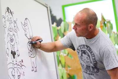 Cartoonist Andrew Hore