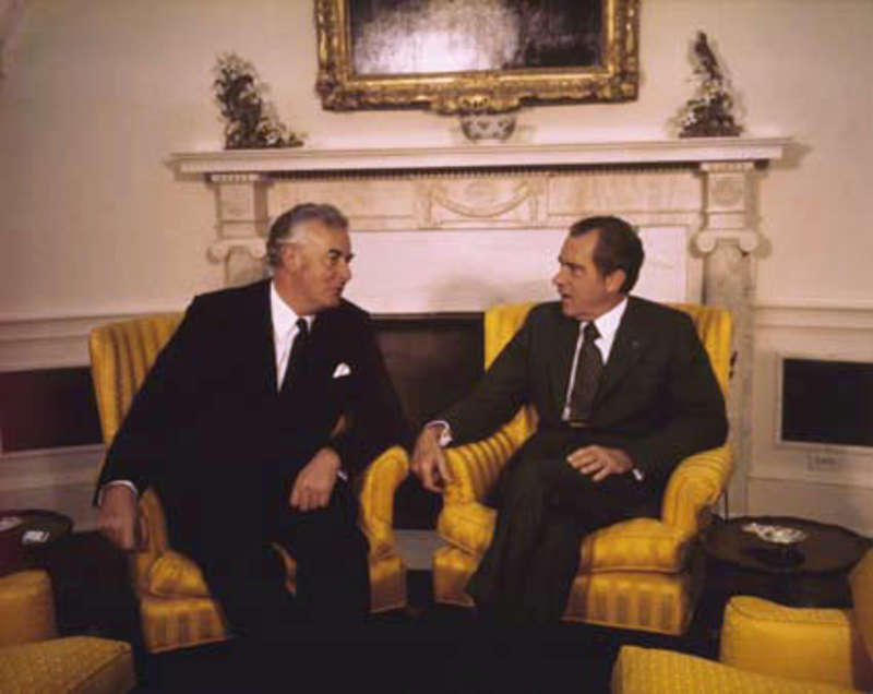 Gough Whitlam and Richard Nixon