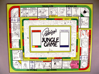 Image of the 1980's board game: Pickerings Jungle Game.