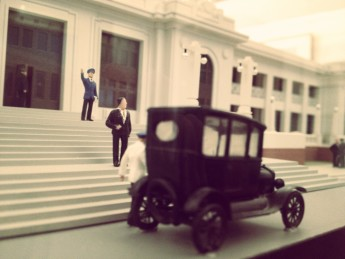 1927 scale model in our Building History exhibition.