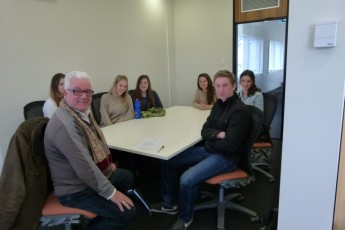 Mr Ray Millikin and Year 11 Global Studies students from the Orana Steiner School