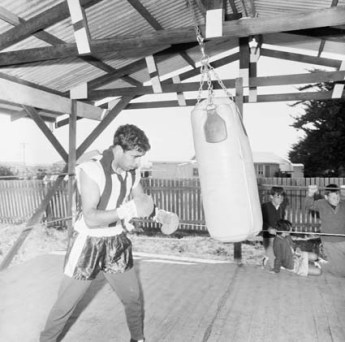 Lionel Rose training for his world title fight against Masahiko Harada in 1968. National Archives of Australia.
