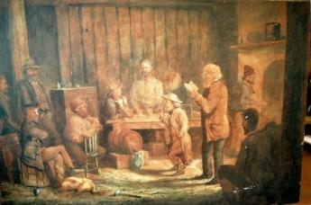 William Joseph Wadham (1864-1950) Australian Politicians, c. 1887 Watercolour 46.5 x 68 cm Signed 'W J Wadham' lower left