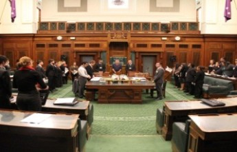 Participants of National Indigenous Youth Parliament in the House of Representatives Chamber at the museum. Museum of Australian Democracy collection