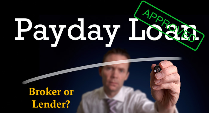 The difference between a payday loan broker and payday loan provider