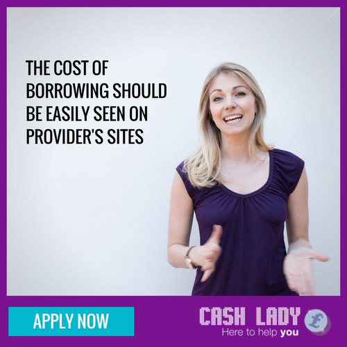 The cost of borrowing a payday loan