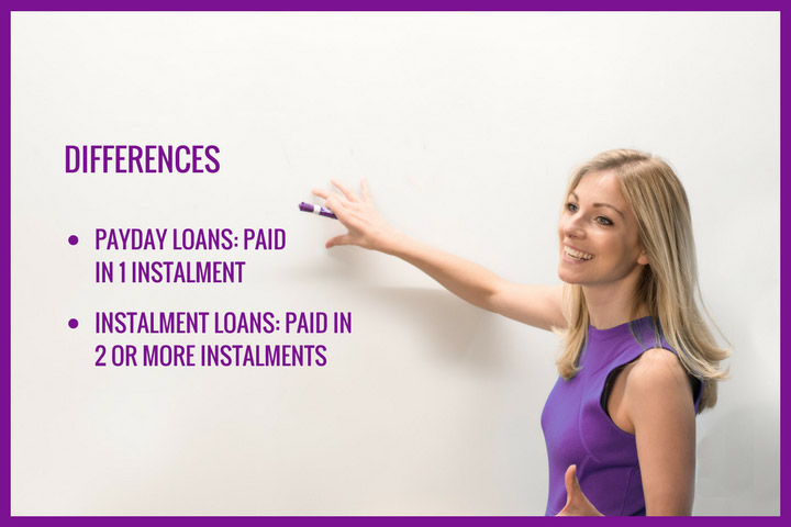 What are the differences between payday loans and instalment loans in the UK?